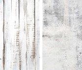 DW4Trading® Vinyl achtergrond dubbelzijdig voor food fotografie hout whitewash