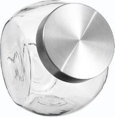 Snoep Voorraadpot Met Deksel 2.1 Liter - Grote Glazen Voorraad Pot - Opbergpot
