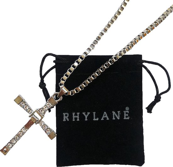Ketting met kruis hanger – 50 cm – zilverkleurig - Rhylane