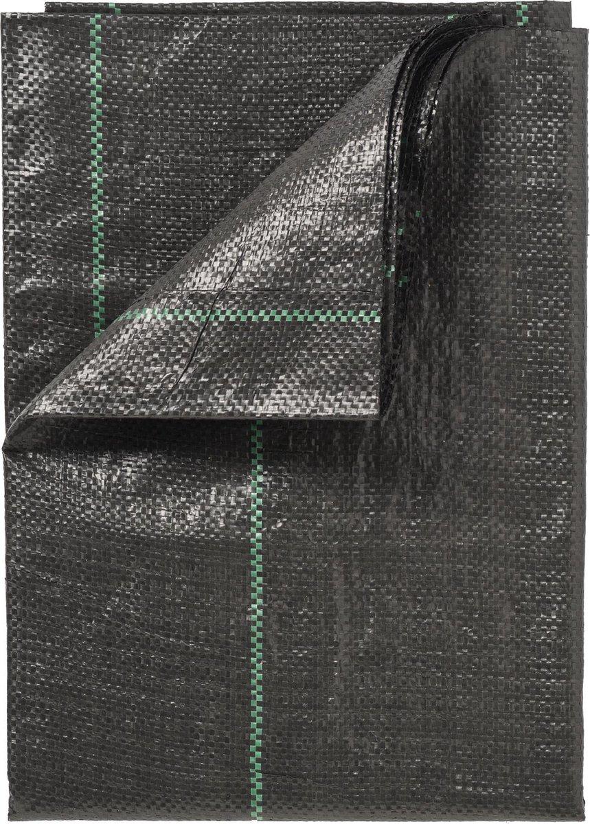 Gronddoek - Zwart - 5 x 4.20 mtr / 100 gr p/m²  met lijnen