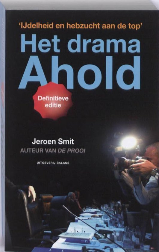 Boek cover Het drama Ahold van Jeroen Smit (Onbekend)