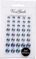 Blauwe plak parels 40 stuks voor het gezicht