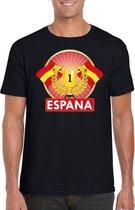 Zwart Spaans kampioen t-shirt heren - Spanje supporters shirt L