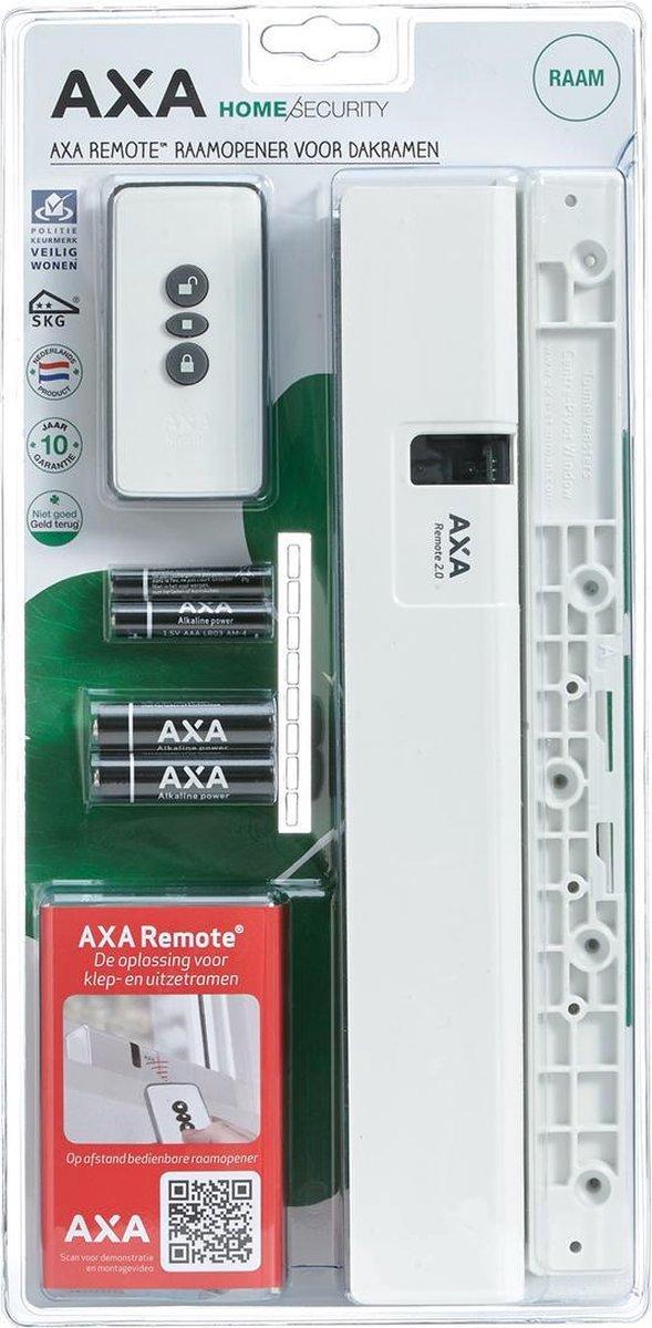 AXA Remote 2.0 Raamopener met afstandsbediening - Voor dakraam - SKG** - Wit - In consumentenverpakking - 2902-30-98BL - Axa