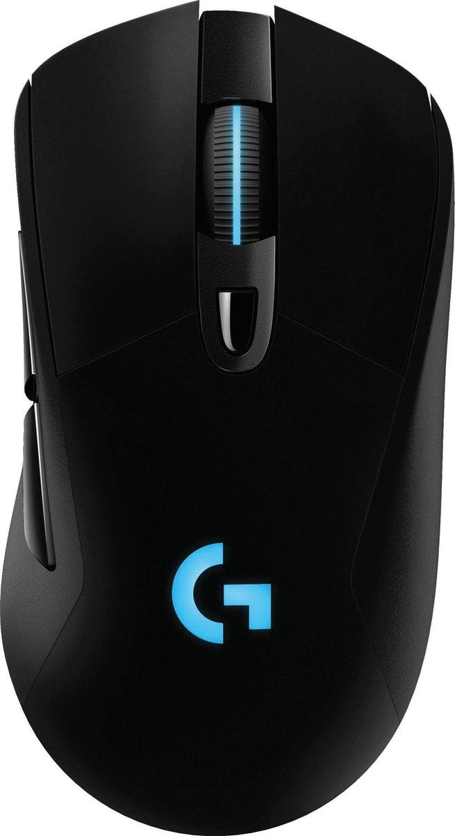 Logitech G703 HERO Draadloze Gaming Muis met 25K DPI - zwart