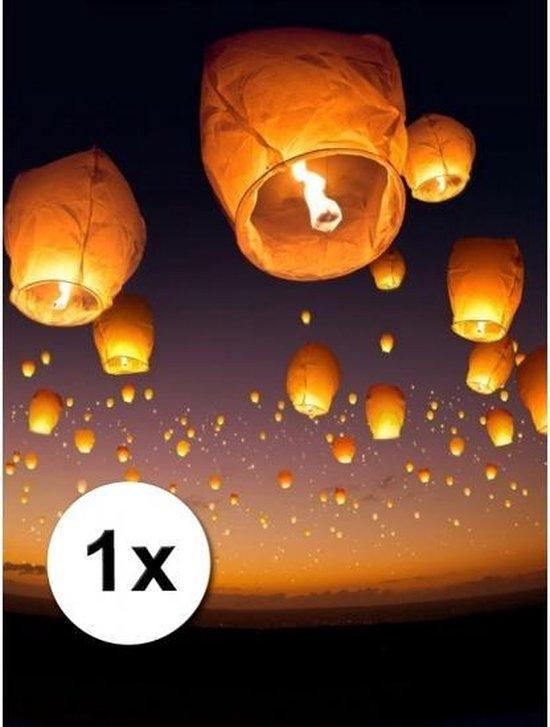 Luxe witte wensballon - XL 50 x 100 cm - bestaan uit 1 deel