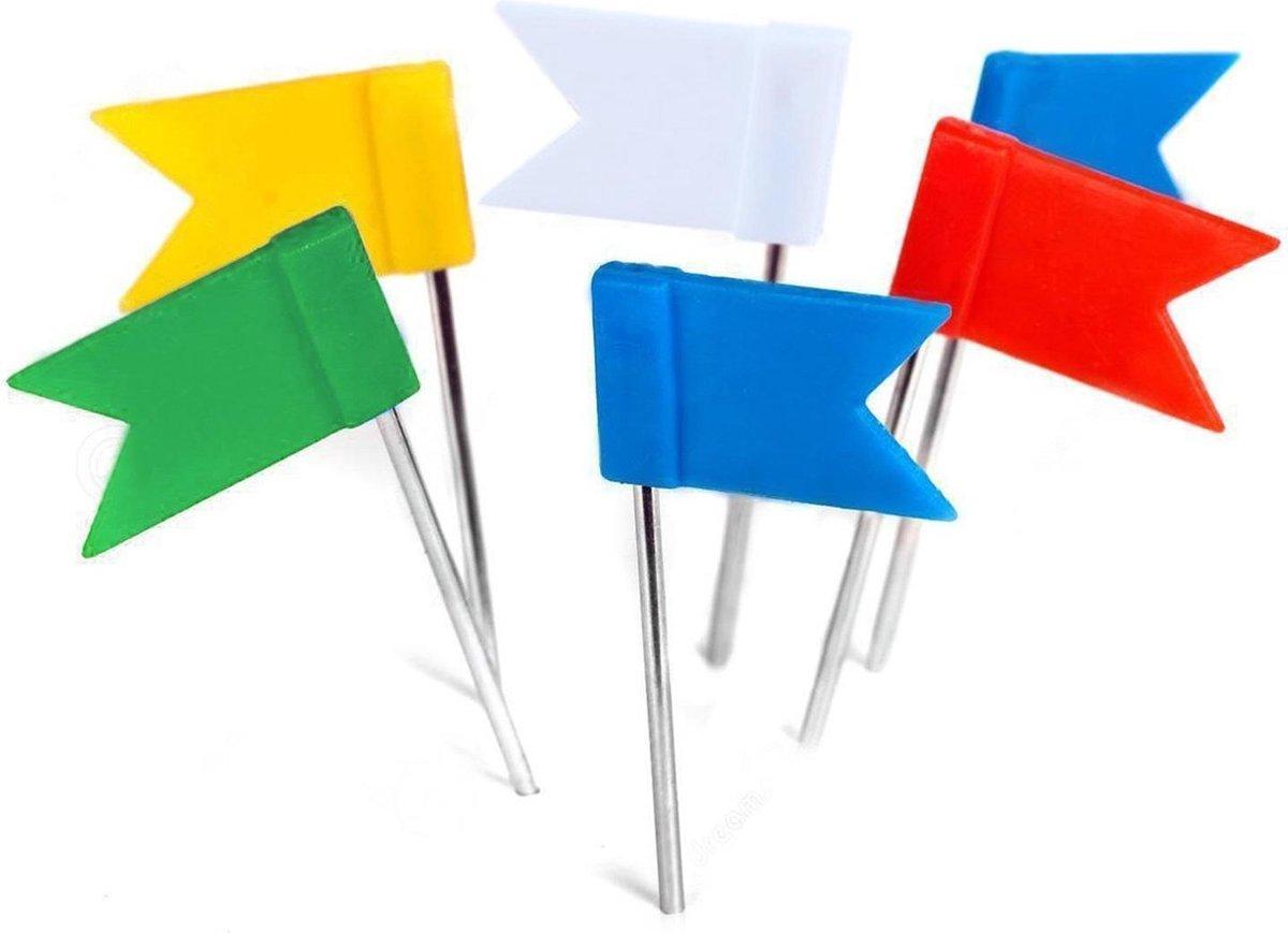 Kurk24  Gekleurde vlagspelden - 30 stuks - Naga