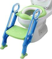 Macx & Macx WC Verkleiner met Trapje - Inclusief Handvaten - Opvouwbaar - 2 tot 7 jaar - Groen met Blauw