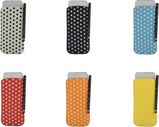 Polka Dot Hoesje voor Huawei Ascend G526 met gratis Polka Dot Stylus, geel , merk i12Cover