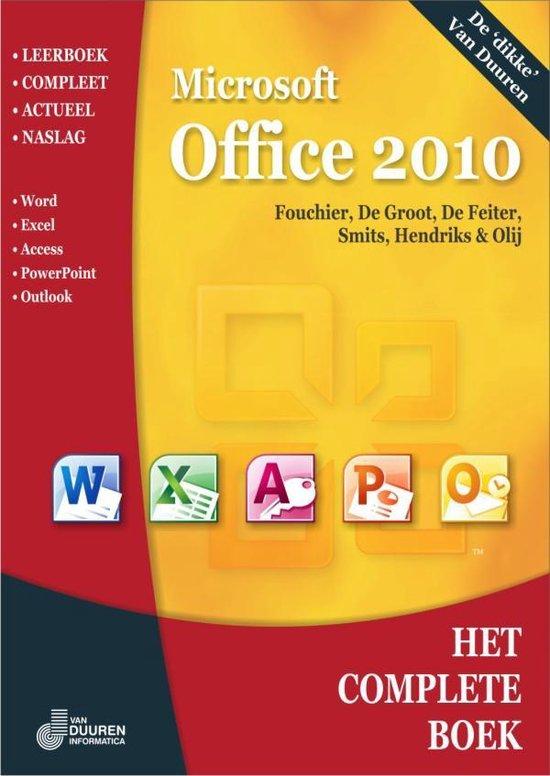 Boek cover Het complete boek microsoft office 2010 van Francisca J.C. Fouchier (Paperback)