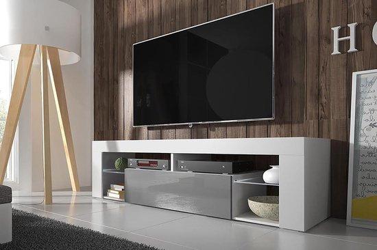 Tv meubel kast Hugo – met verlichting – wit grijs - VDD