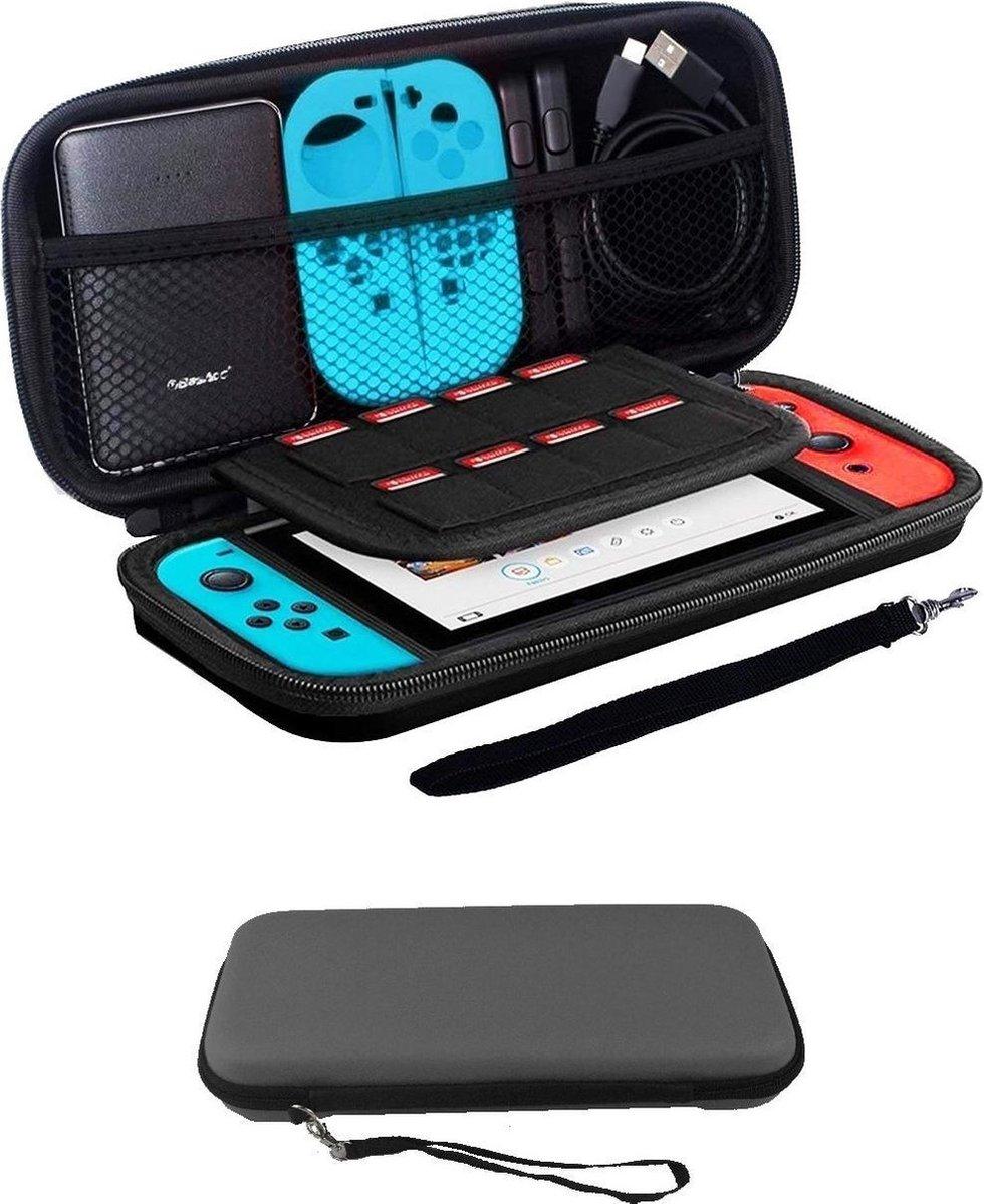 Bescherm Hoesje Geschikt voor Nintendo Switch Case Hard Cover - Grijs