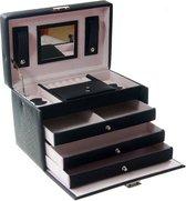 Deluxa Sieradenbox Luxe - Sieradendoos - 7 compartimenten - Kunstleer
