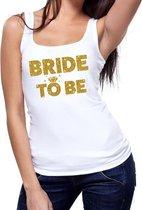 Bride to be gouden vrijgezellenfeest tanktop / mouwloos shirt wi M
