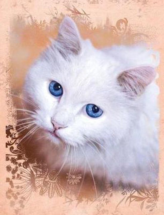 White Cat Composition Notebook, Dot Grid