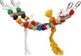 Speelhanger Papagaaien Brug - Vogelspeelgoed - 11 x 40 x 44 cm