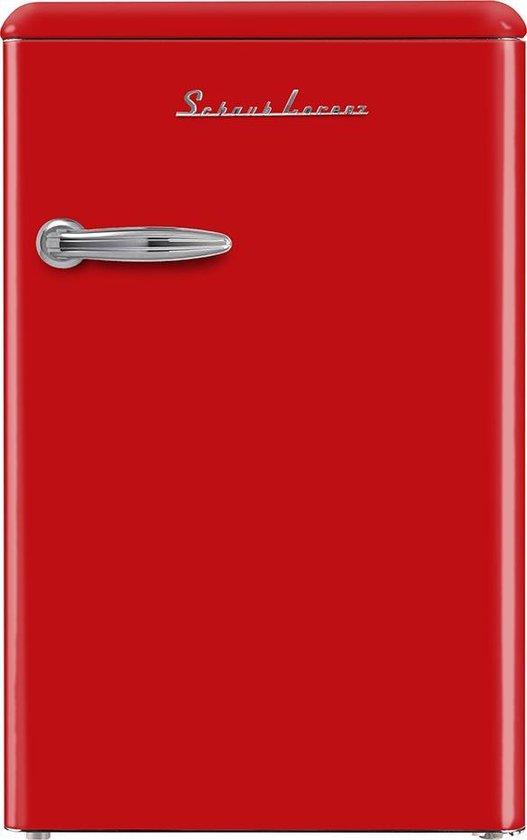 Koelkast: SCHAUB LORENZ SL 130 TT A++ FIRE RED, van het merk Schaub Lorenz