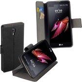 HC zwart bookcase voor LG X Screen wallet cover