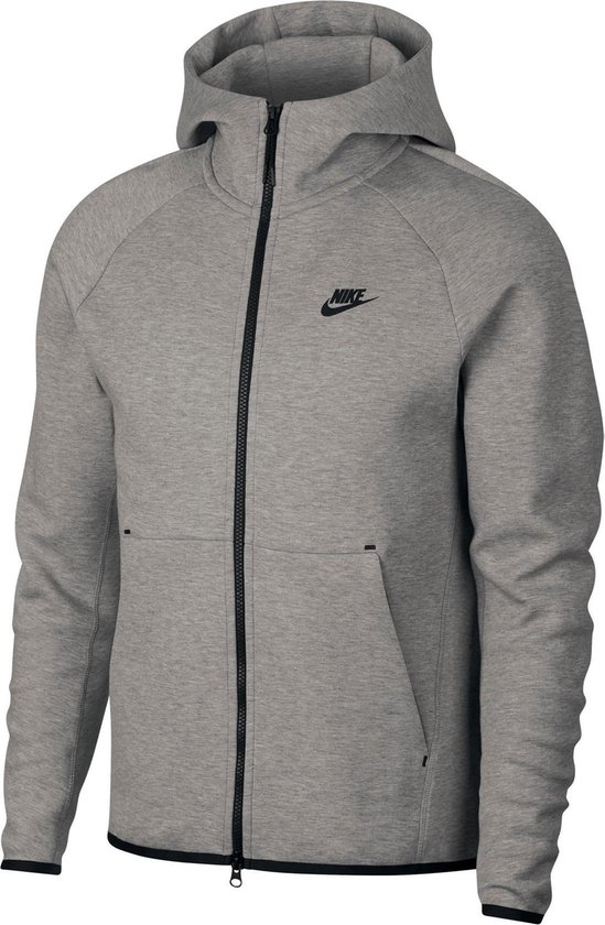 Nike Sportswear Tech Fleece Hoody Heren Sporttrui - Maat XS  - Mannen - grijs/zwart