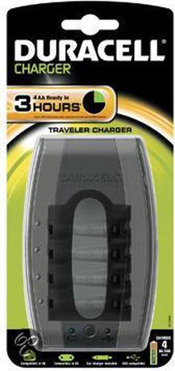 Duracell Mobile Traveller oplader CEF 23 - 3 uur oplaadtijd - 0 batterijen - Duracell