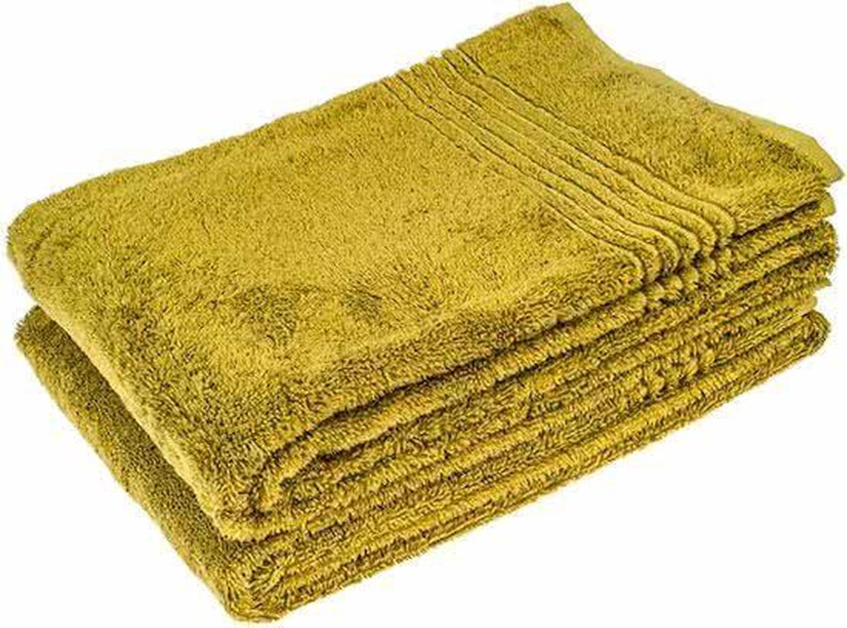 2 Stuks Groene Bamboe Handdoek 70x140 cm - Merkloos