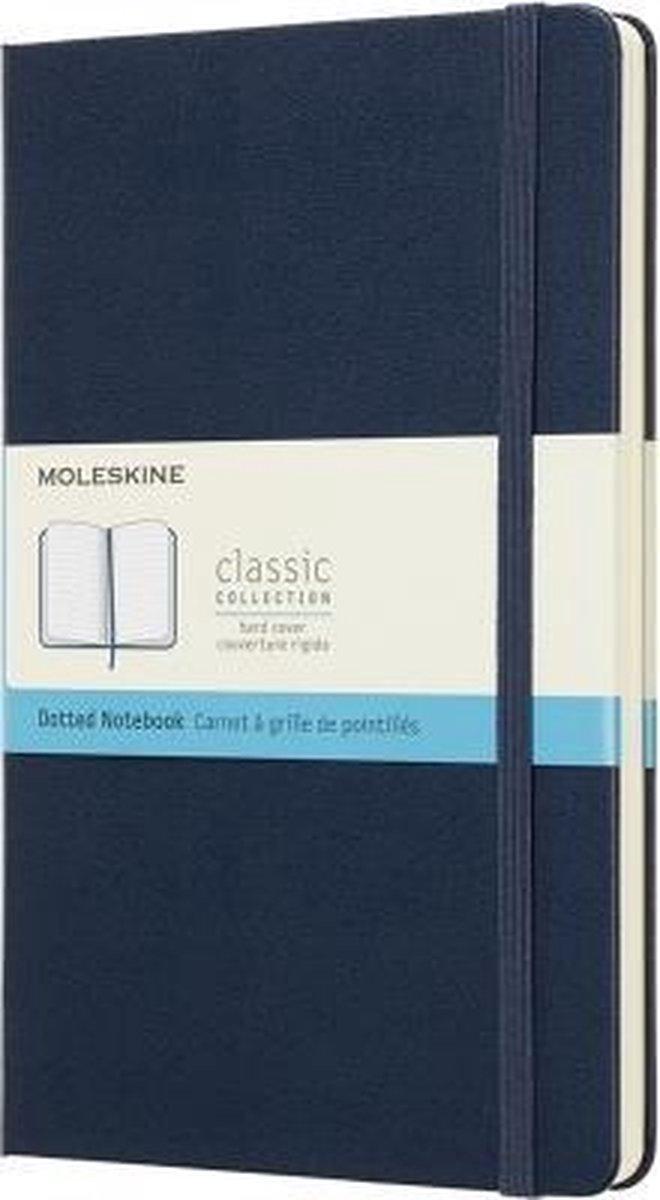 Moleskine Classic Notitieboek Hard Cover - Large - Blauw - Stippen