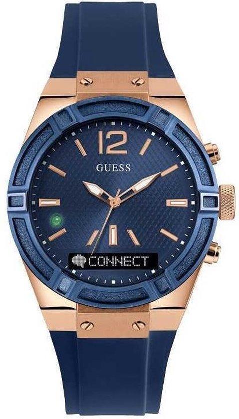 GUESS Watches Unisex horloge C0001M1 - siliconen - blauw - Ø 45 cm