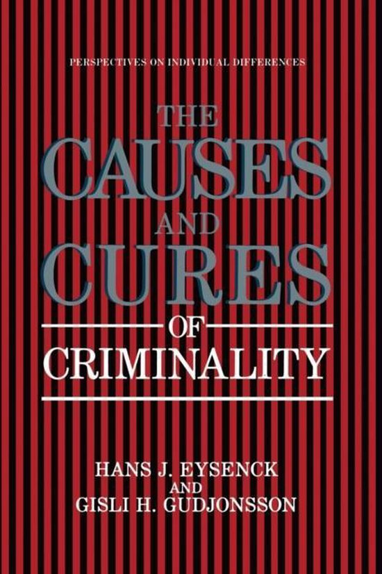 Boek cover The Causes and Cures of Criminality van Hans J. Eysenck (Paperback)