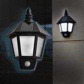 Klassieke Solar Tuinlamp Buitenverlichting - Verlichting Op Zonne Energie Met Bewegingssensor - Sierlijke Design Wandlamp - SensaHome Klassieke Wandlamp