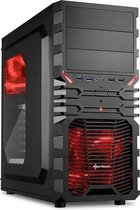 Sharkoon VG4-W - PC Behuizing / Rood