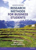 Boek cover Research Methods for Business Students van Mark Saunders (Paperback)
