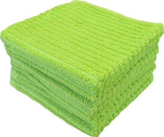 Vaatdoeken Suus - Vaatdoek 30x30 cm - Groen - 6 stuks