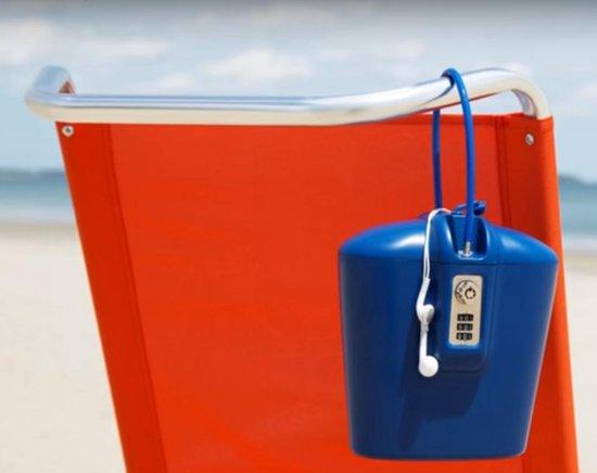 SAFEGO - Draagbare kluis / locker voor op reis - Extreem sterk ABS Plastic met Geplastificeerde staalkabel - 18 x 19 x 10 cm - 1,44L inhoud - Zwart - SAFEGO