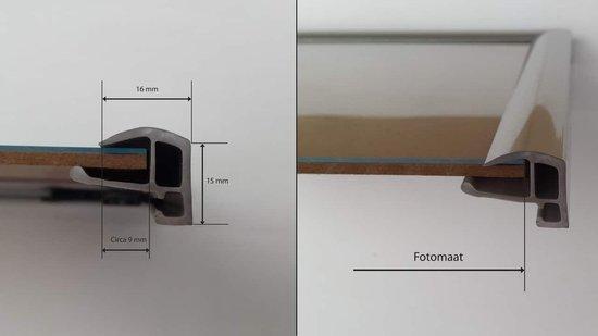 Homedecoration Biggy – Fotolijst – Fotomaat – 29 x 44 cm – Kunststof – Hoogglans zwart