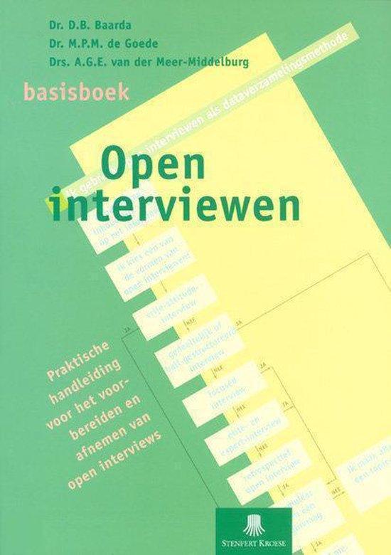 Basisboek open interviewen - D.B. Baarda  