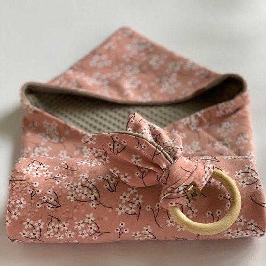 Lilly Wikkeldoek - roze/taupe
