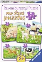 Ravensburger Boerderijdieren - My First puzzels - 2+4+6+8 stukjes - kinderpuzzel