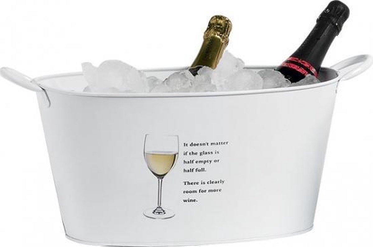 Witte wijn of champagne emmer 39,5 cm - Merkloos