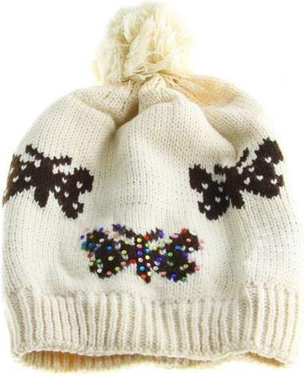 Wollen gebreide unisex muts lekker voor de koude dagen! - DD-1179 - Dagdeals Import