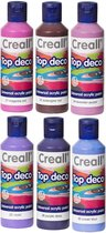 Acryl Verf - 6 Kleuren Assortiment - 6 x 80ml - Acrylverf voor kunstschilders, snel droog en niet duur
