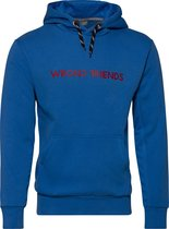 WRONG FRIENDS - MONACO MESH HOODIE - BLUE/RED - XL