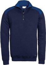 Santino zip-sweater Tokyo - navy / koningsblauw - maat XXL