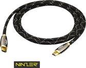 Ninzer Premium HDMI kabel 3D, HD, FHD, 4K vergulde connectoren 1,5 meter
