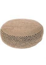 Verwonderlijk bol.com | Yoshiko - Sittwe - grote ronde poef 80cm - naturel - jute UO-95