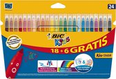 BIC Kids Kid Couleur, 18 + 6st gratis