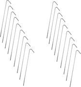 Stalen Tentharingen Set - 18 stuks - 23 cm | Staal | Opzetten Tent | Tentspijkers | Tentspijker | Haringen | Tentharing | Haring | Camping | Kamperen