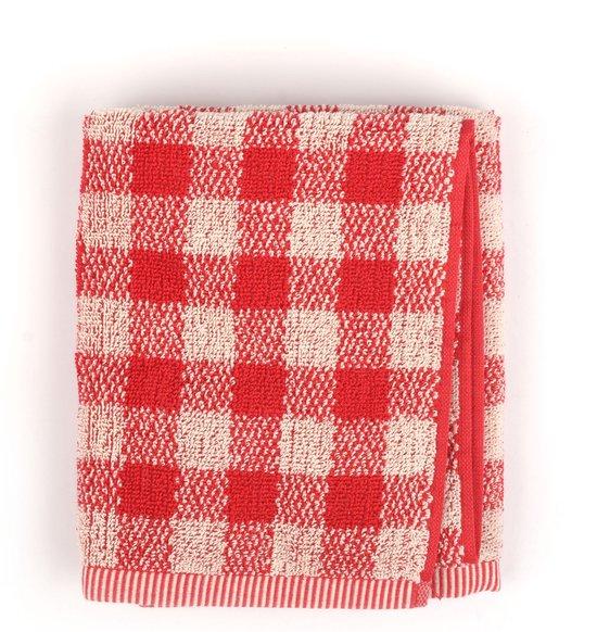 Bunzlau Castle Handdoek Check Red