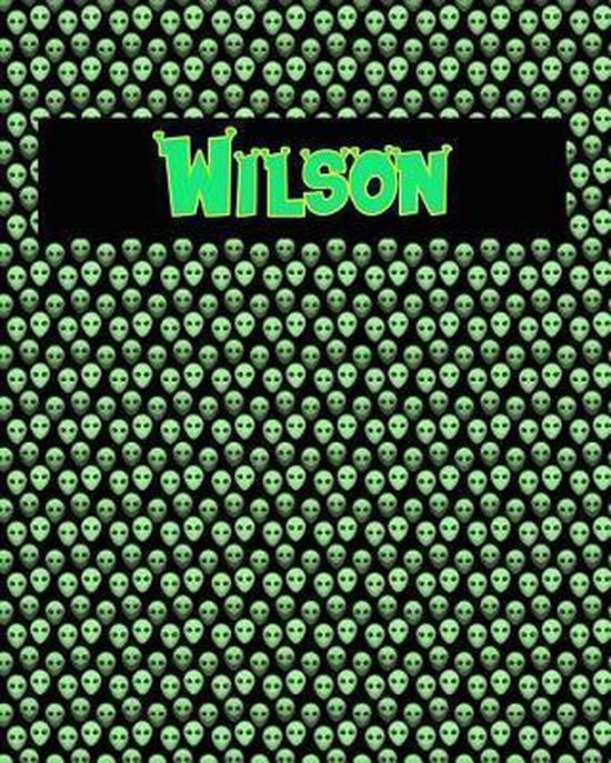 120 Page Handwriting Practice Book with Green Alien Cover Wilson