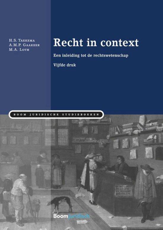 Afbeelding van Boom Juridische studieboeken - Recht in context