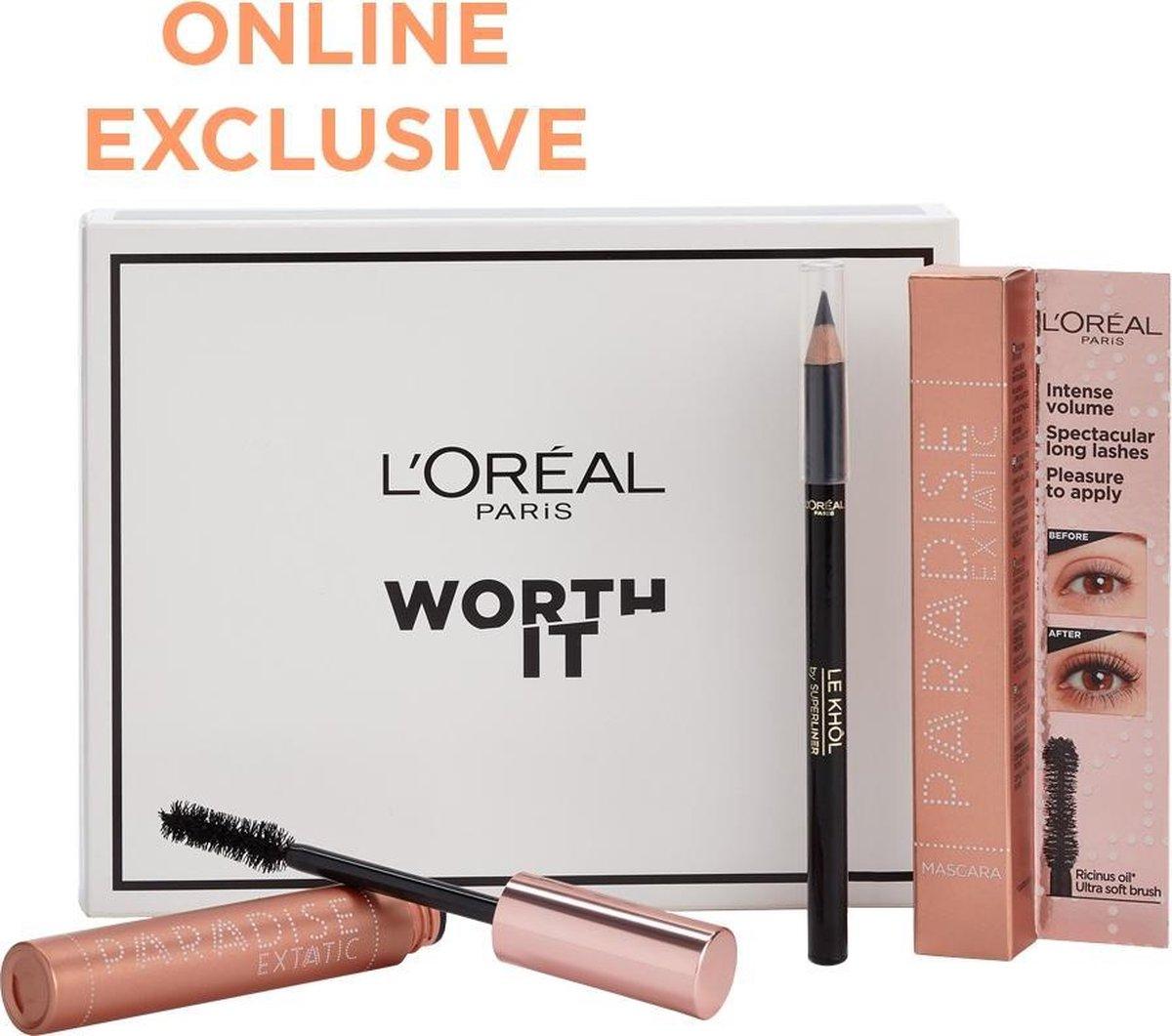 L'Oréal Paris Paradise Extatic Mascara Voordeelverpakking - Mega Volume Mascara en Oogpotlood